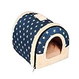 Enko 2 en 1 Cmodo Casa para Mascotas y Sof, Interiores y Exteriores Porttil Plegable...