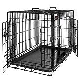 FEANDREA Jaula Metlica para Perros, Transportn Plegable para Mascotas, Talla L, 75 x...