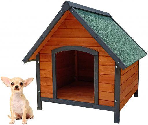 casa para perro de madera reciclada